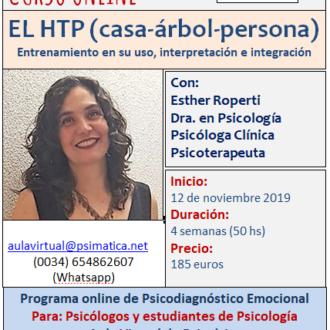 Curso online: el HTP (test de la casa-árbol-persona). Inicio: 11 de noviembre 2019